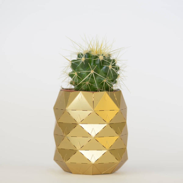 Pineapple Brass Plant Pot - indish-design-shop-2