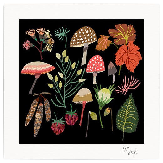 Limited Edition Mushrooms & Moss Giclée  Print - indish-design-shop-2