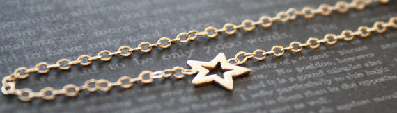 Cutout Star Bracelet in 14K Solid Gold