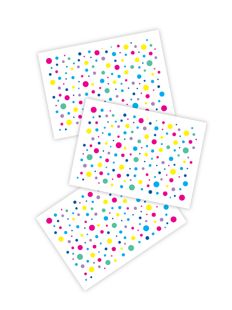 Confetti freckles temporary tattoos. Set of 3 tattoo sheets by Ducky street