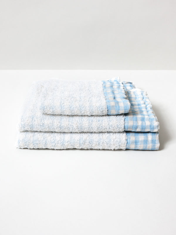 Lino Towel, Light Blue