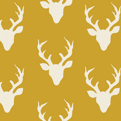 Hello Bear Mustard Buck Forest Yardage by Bonnie Christine for Art Gallery Fabrics