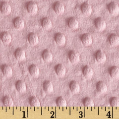Minky Cuddle Dimple Dot Pink by Shannon Fabrics