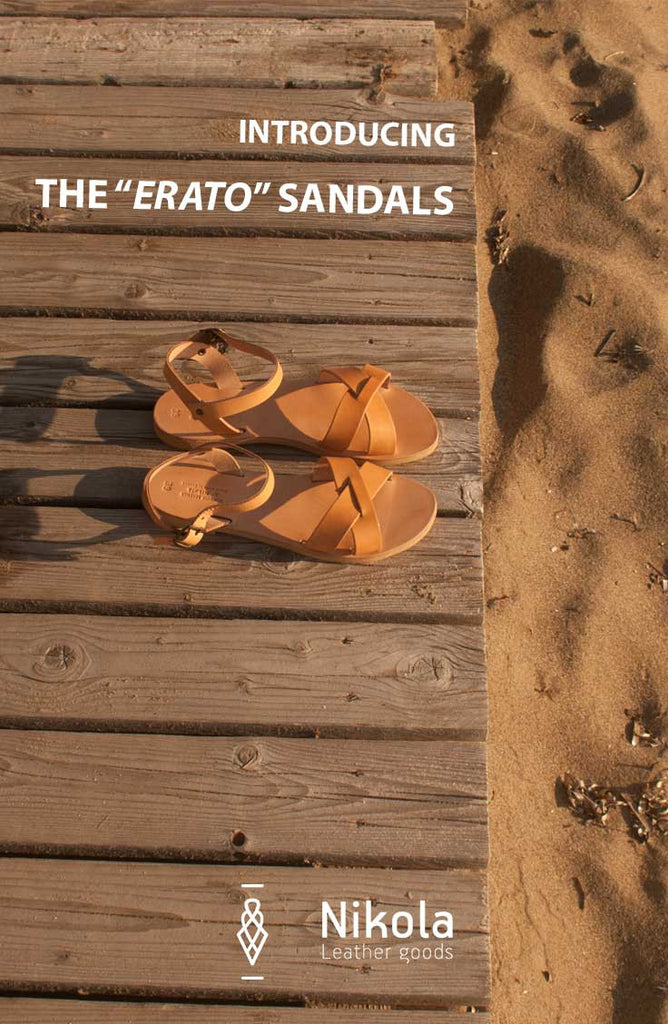 The design and creation of the Erato leather sandals