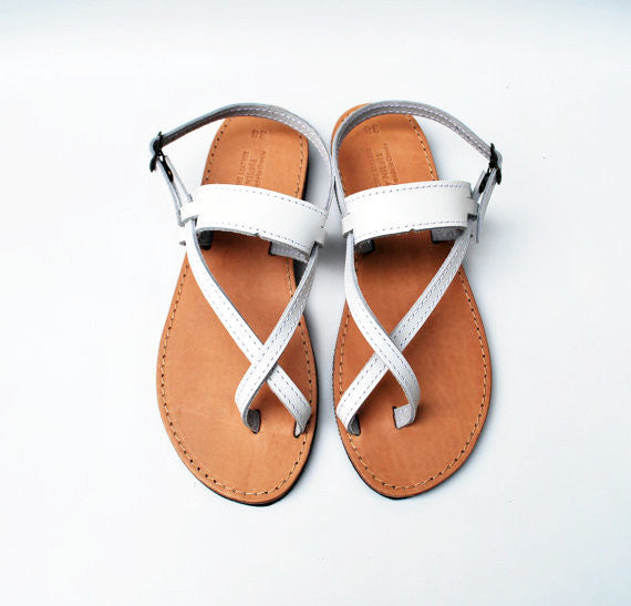 White wedding sandals