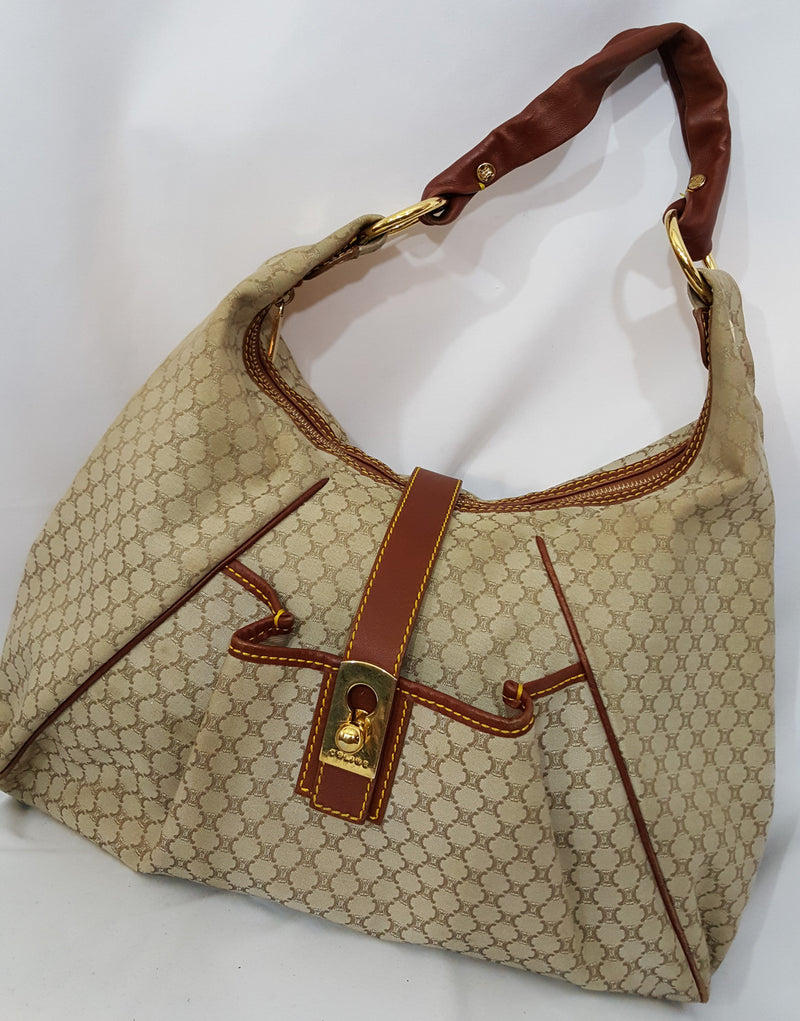 Authentic Celine Vintage Macadam Hobo Bag