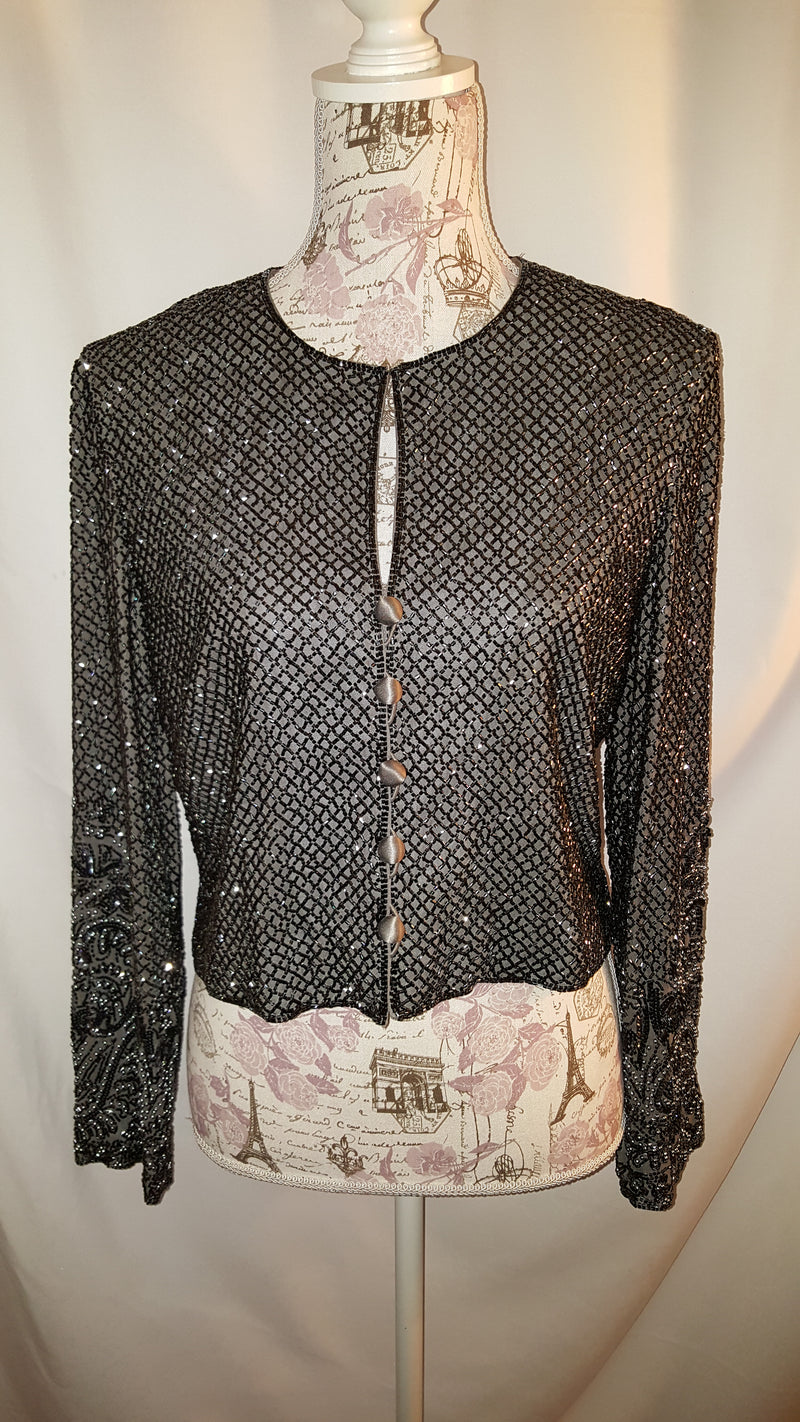 Gray Sequin Jacket size M