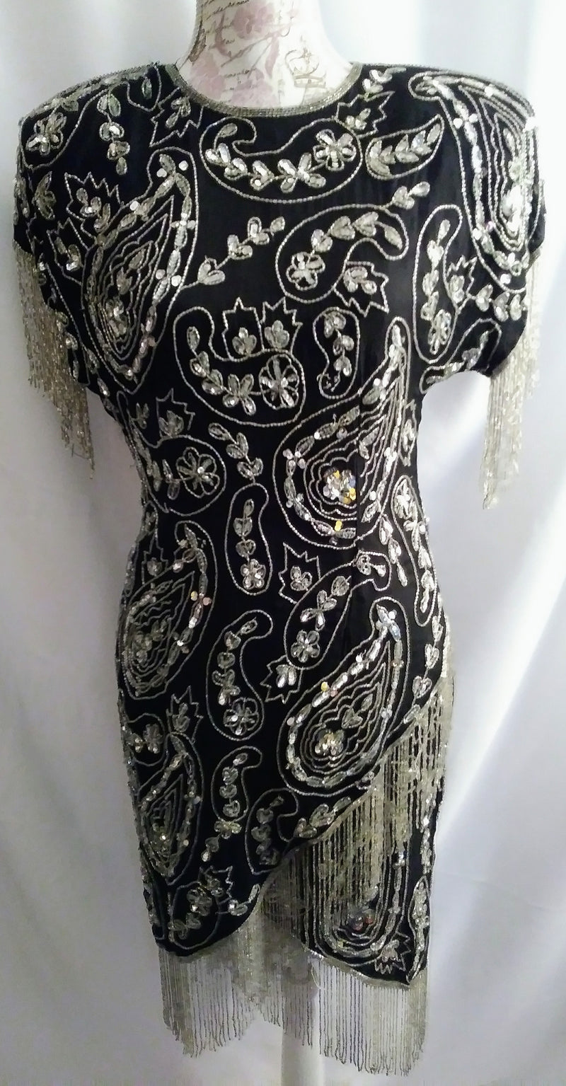 Laurence Kazar Sequin Dress Size M