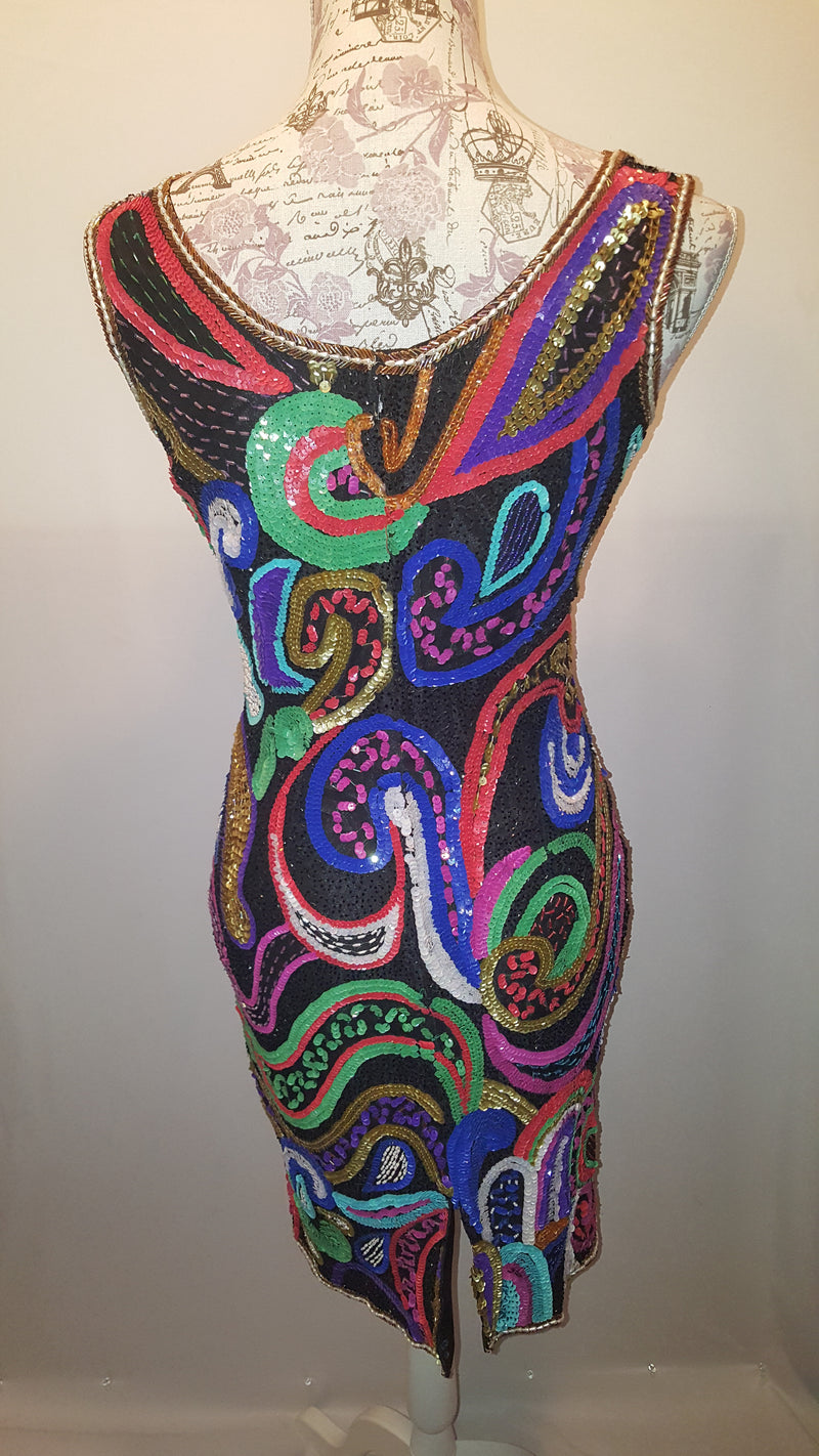 In Vogue Multi-Color Sequin Dress Size 10