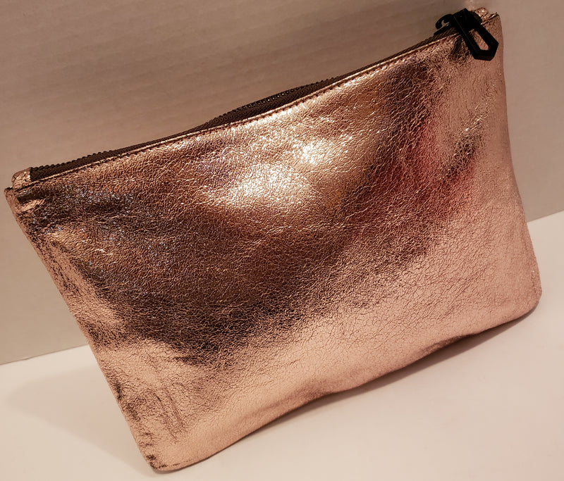 Marc Jacobs Pink Metallic Leather Pouch