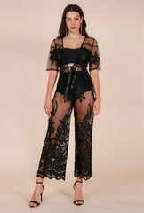 Naughty Grl Lace Evening Gown - Black - NaughtyGrl
