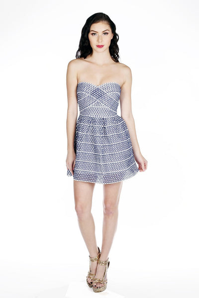 Naughty Grl Sweetheart Fit & Flare Dress - Blue - NaughtyGrl