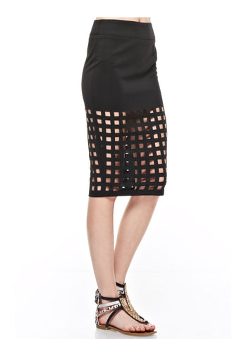 Designer inexpensive online boutique for women - Break Outta Or Stay In The Girl Caged Skirt