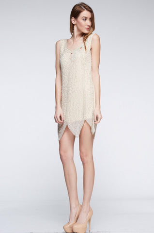 Designer inexpensive online boutique for women - Naughty Grl Elegant Cocktail Dress - Champagne