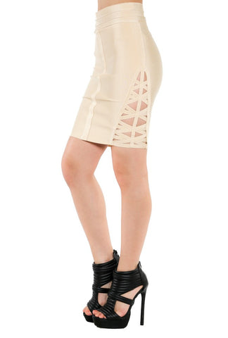 Designer inexpensive online boutique for women - Mini Skirt With Side Cage Detail