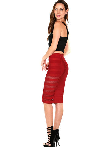 Designer inexpensive online boutique for women - Hurry Up Pencil Skirt W/ Side Open Mesh Detail