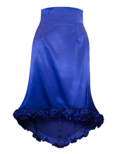 Bella Royal Blue Satin Skirt