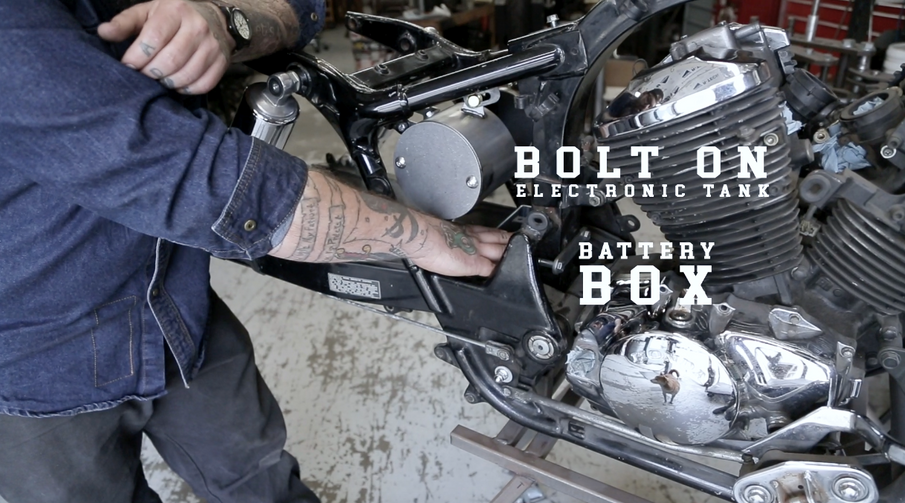 The ONLY Bolt-On Electronics Tank, Coil Mount & Battery Box for Honda Shadow VT750 ACE & Spirit