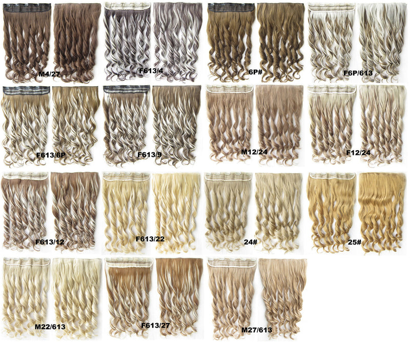 15 Colors Clip in synthetic hair extension hairpieces 5 clips in on wavy slice hairpiece GS-888,60cm,130grams 1PCS