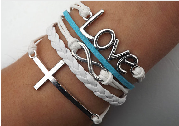 Bracelet,Bracelets,Hipsters jewelry,infinity Love Cross Anchor Peace Bracelet,braided bracelet,Couples bracelet,lover bracelets,bangle bracelet,,leather bracelet,charm bracelet,RELIGIOUS BRACELET