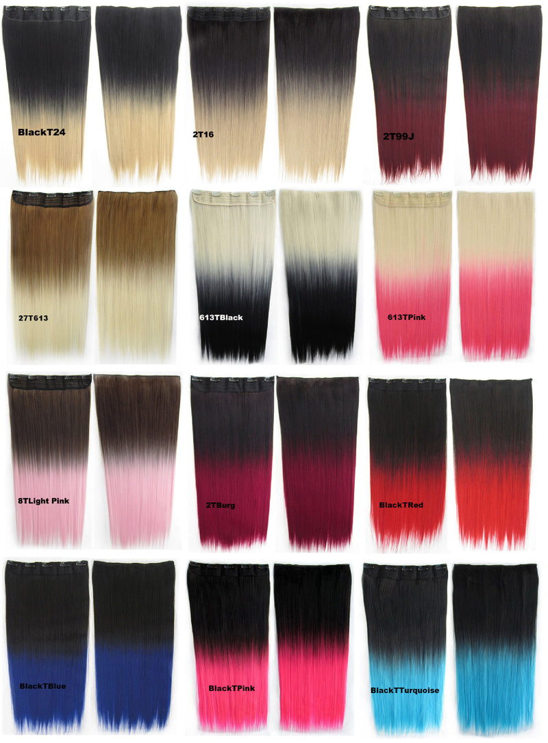 12 Colors Dip dye hairpieces New Fashion 24