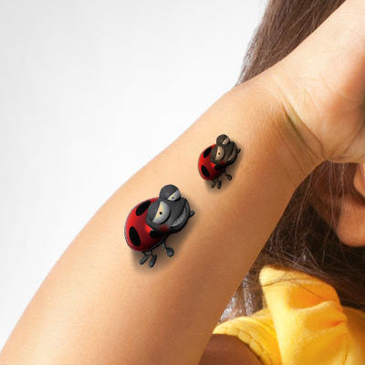 3D stereo waterproof unisex tattoo stickers cartoon children funny Cute Beatles tattoo stickers cover up of scar