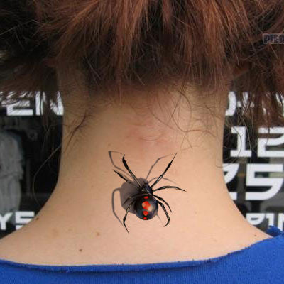 3D stereo waterproof unisex tattoo stickers cartoon children funny spider tattoo stickers cover up of scar