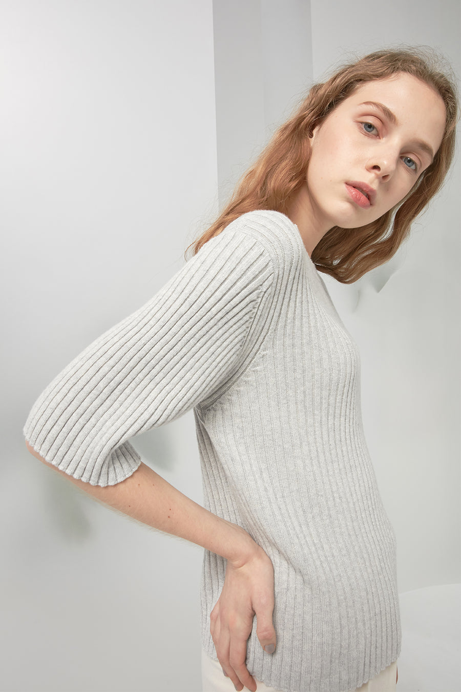 Cashmere and cotton-blend sweater - Zelle Studio
