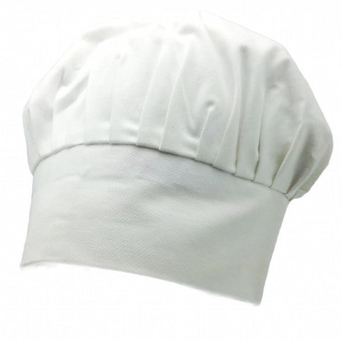 Adjustable White Blank Chef Hat