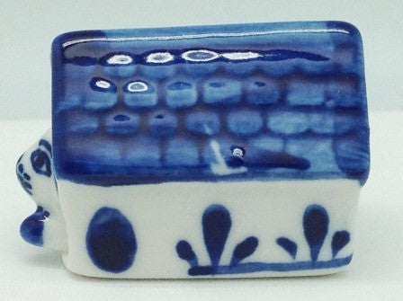 Delft Blue Ceramic Dog House