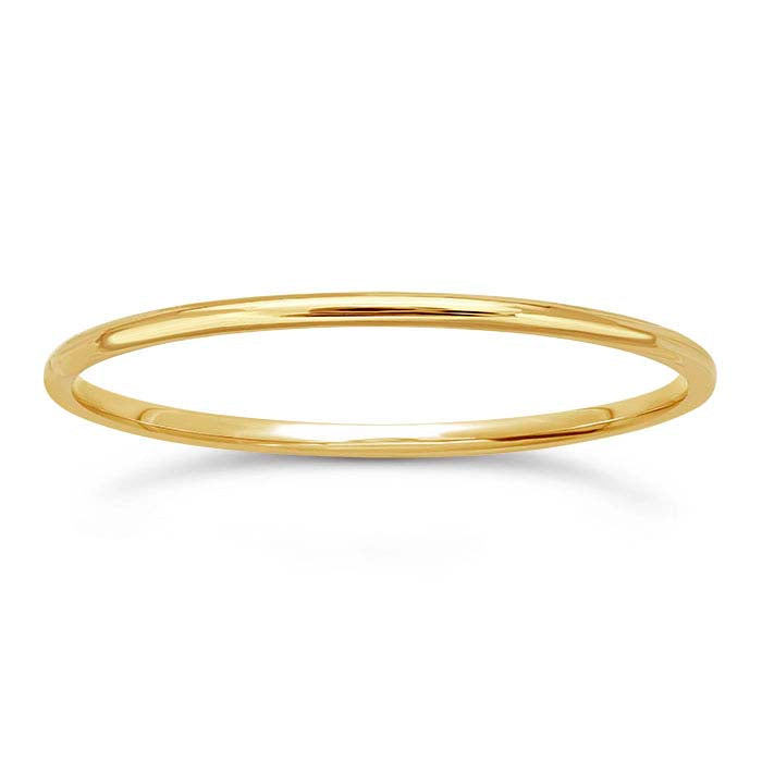14k gold plain band ring