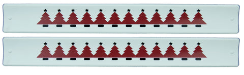 Holidays Slap Bands  - Red Christmas Tree
