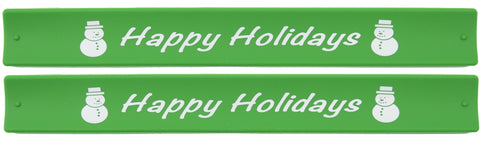 Holidays Slap Bands  - Happy Holidays