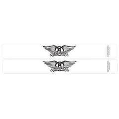 Aerosmith® Logo Slap Bands 2 Pack White w/Black Logo