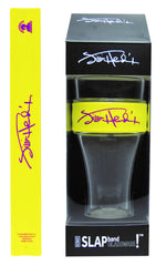Jimi Hendrix Slap Band Glassware - Single Pack with Slap Band Jimi Hendrix Yellow Band/Purple Signature Logo