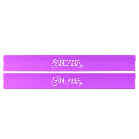 Santana Logo Slap Bands 2 Pack Purple w/White Logo