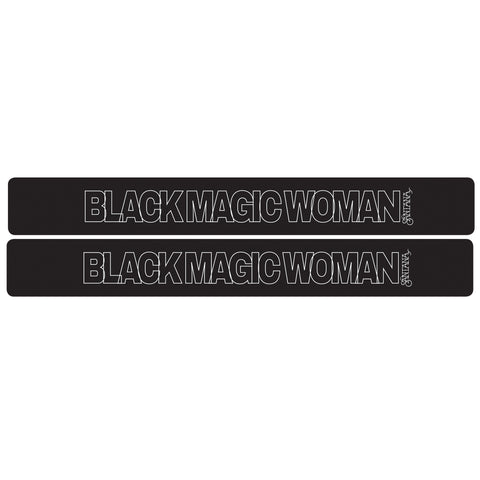 Santana Slap Bands 2 Pack Black w/White Black Magic Woman Graphic
