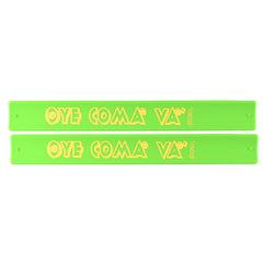 Santana Slap Bands 2 Pack Green w/Yellow Oye Como Va Graphic