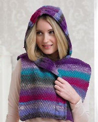 "Noro ""Snuggle"" Ladies Hooded Wrap Knitting Pattern Leaflet  