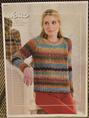 "Noro ""Lace"" Ladies Raglan Sweater Knitting Pattern Leaflet  