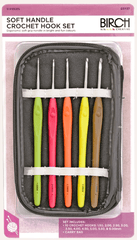 Birch Soft Grip Aluminium Crochet Hooks w Case - Set of 10 (1.50mm - 6.00mm)  | KNITTING CO. - 1