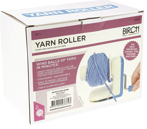 Birch Yarn Roller - Wool Winder Accessory
