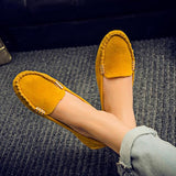 2016 Flock Soft Flat Shoes Women Fashion Spring Autumn Woman Causal Shoes candy color Mother Loafers zapatos mujer - Raja Indonesia
