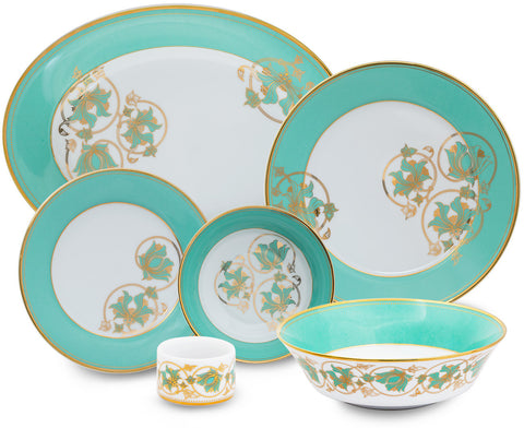 Spring in Udaipur 27 Piece Dinner Set,[product_collection],Nishita Fine Dinnerware, - Artisera