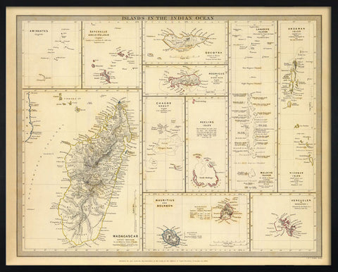 Islands in the Indian Ocean, 1844,[product_collection],The Calcutta Restoration Co., - Artisera