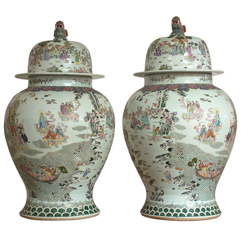 Pair of Vietnamese Jars with Lid,[product_collection],Crafters, - Artisera