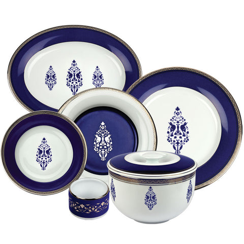Jodhpur Evenings 27 Piece Dinner Set,[product_collection],Nishita Fine Dinnerware, - Artisera