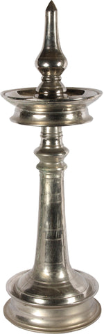 Nickel Plated Diya Stand,[product_collection],Essajees, - Artisera