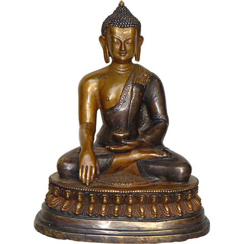 Nepalese Buddha in Bhoomisparsha Mudra,[product_collection],La Boutique, - Artisera