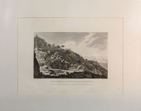 Robert Home's View of Shevagurry from the top of Ramgaree,[product_collection],Balaji's Antiques and Collectibles, - Artisera